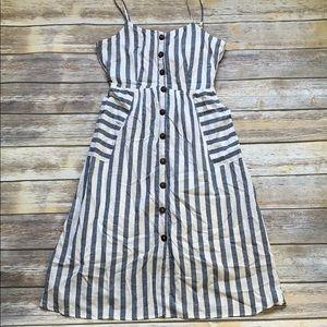 Super Cute Rebellion Stripe Tie Back Dress